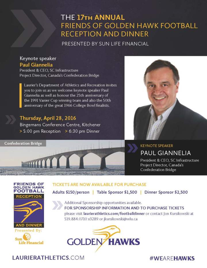 Laurier Football Dinner Promotional Flyer