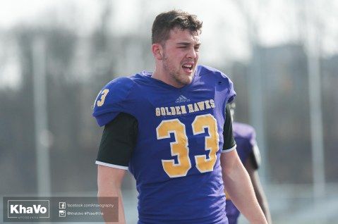 20170324 - Kha Vo - Laurier Football scrimmage vs Western_-112