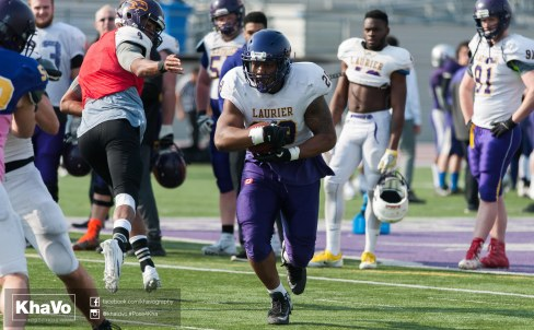 20170324 - Kha Vo - Laurier Football scrimmage vs Western_-126