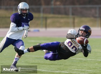 20170324 - Kha Vo - Laurier Football scrimmage vs Western_-134