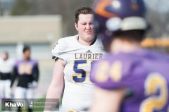 20170324 - Kha Vo - Laurier Football scrimmage vs Western_-14