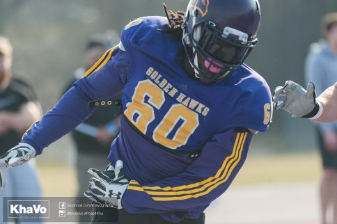 20170324 - Kha Vo - Laurier Football scrimmage vs Western_-141