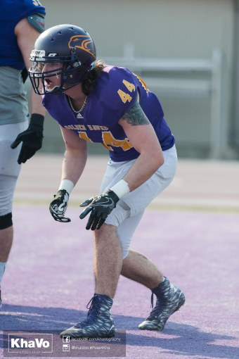 20170324 - Kha Vo - Laurier Football scrimmage vs Western_-144