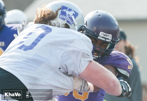 20170324 - Kha Vo - Laurier Football scrimmage vs Western_-148