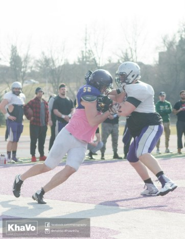 20170324 - Kha Vo - Laurier Football scrimmage vs Western_-156