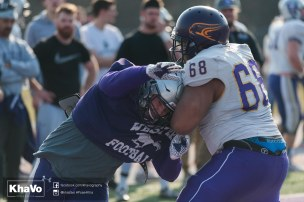 20170324 - Kha Vo - Laurier Football scrimmage vs Western_-163