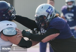 20170324 - Kha Vo - Laurier Football scrimmage vs Western_-167