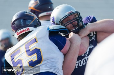 20170324 - Kha Vo - Laurier Football scrimmage vs Western_-170