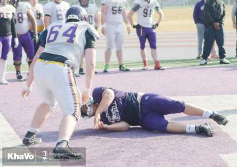 20170324 - Kha Vo - Laurier Football scrimmage vs Western_-176