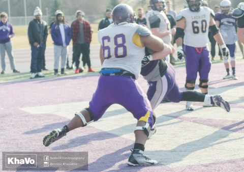 20170324 - Kha Vo - Laurier Football scrimmage vs Western_-177