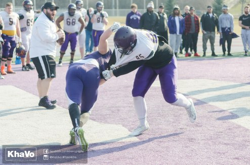 20170324 - Kha Vo - Laurier Football scrimmage vs Western_-181