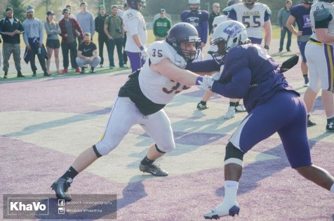 20170324 - Kha Vo - Laurier Football scrimmage vs Western_-189