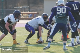 20170324 - Kha Vo - Laurier Football scrimmage vs Western_-193
