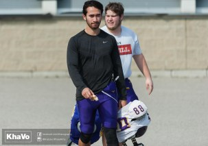 20170324 - Kha Vo - Laurier Football scrimmage vs Western_-2