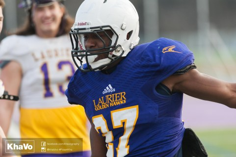 20170324 - Kha Vo - Laurier Football scrimmage vs Western_-223