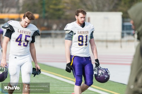 20170324 - Kha Vo - Laurier Football scrimmage vs Western_-23