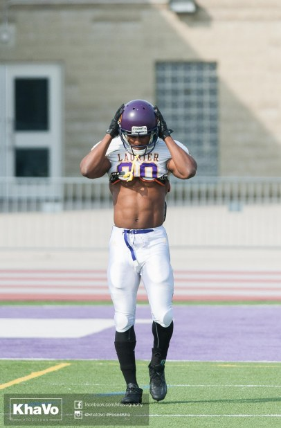 20170324 - Kha Vo - Laurier Football scrimmage vs Western_-24