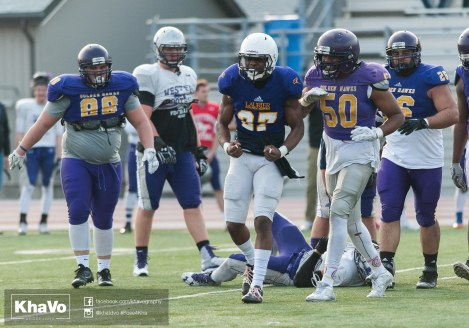 20170324 - Kha Vo - Laurier Football scrimmage vs Western_-243