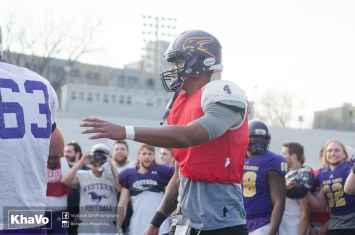 20170324 - Kha Vo - Laurier Football scrimmage vs Western_-261