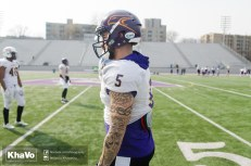 20170324 - Kha Vo - Laurier Football scrimmage vs Western_-28