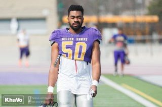 20170324 - Kha Vo - Laurier Football scrimmage vs Western_-29