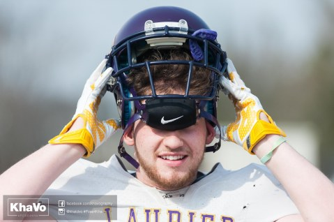 20170324 - Kha Vo - Laurier Football scrimmage vs Western_-3