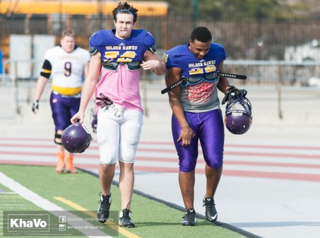 20170324 - Kha Vo - Laurier Football scrimmage vs Western_-30