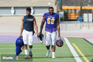 20170324 - Kha Vo - Laurier Football scrimmage vs Western_-34