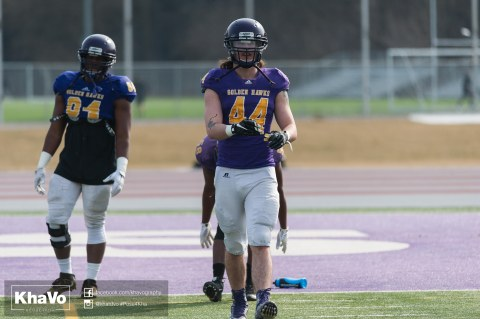 20170324 - Kha Vo - Laurier Football scrimmage vs Western_-42