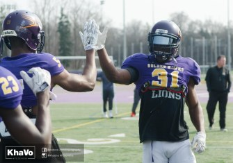 20170324 - Kha Vo - Laurier Football scrimmage vs Western_-47