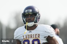 20170324 - Kha Vo - Laurier Football scrimmage vs Western_-57