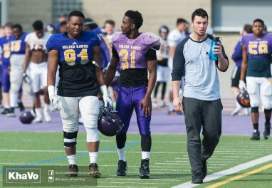 20170324 - Kha Vo - Laurier Football scrimmage vs Western_-6