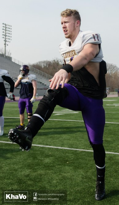 20170324 - Kha Vo - Laurier Football scrimmage vs Western_-61
