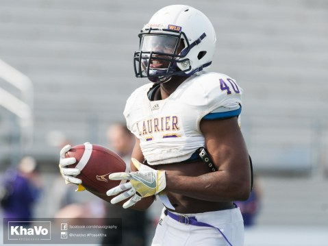 20170324 - Kha Vo - Laurier Football scrimmage vs Western_-83